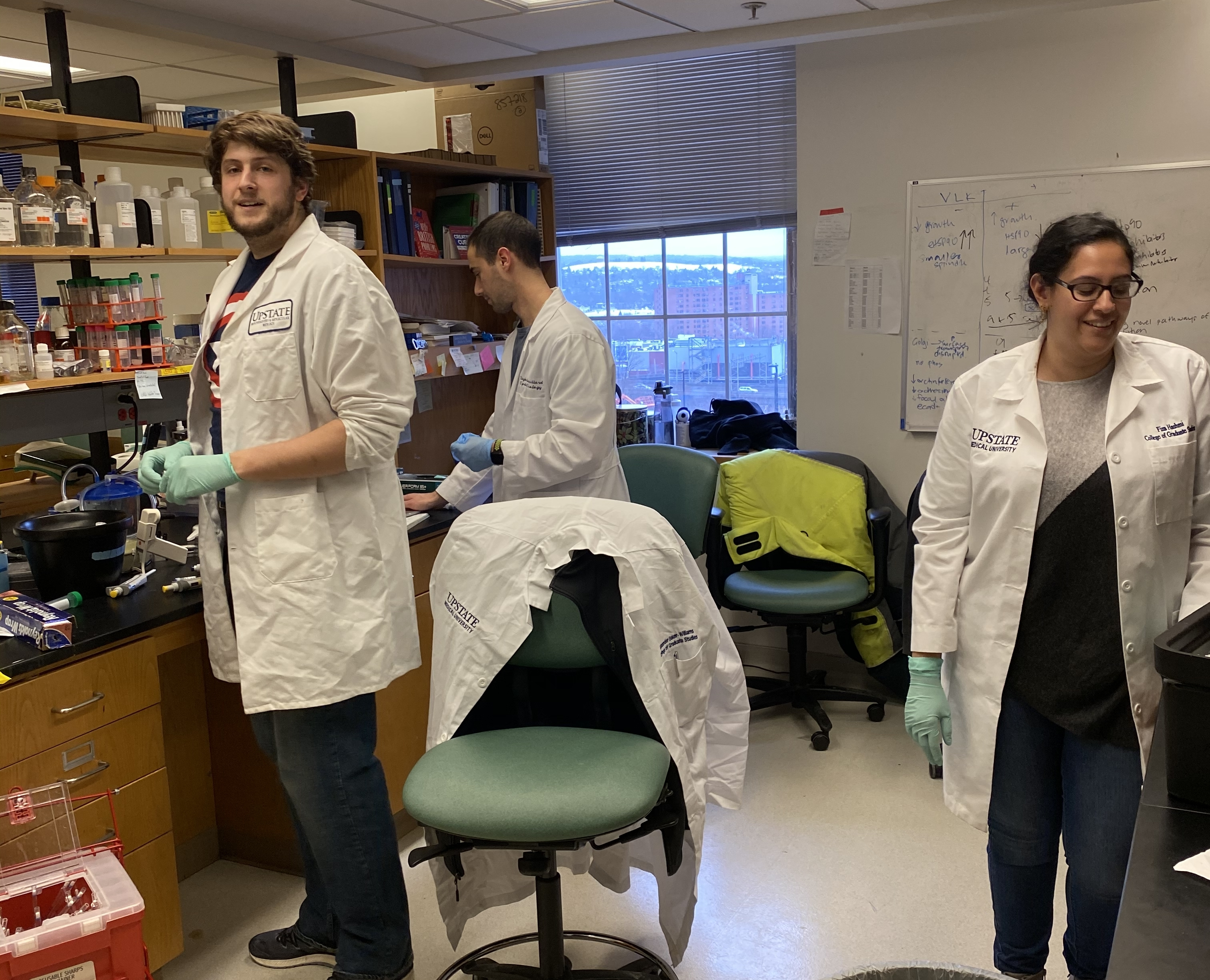 Dr. Dimitra Bourboulia's research team at SUNY Upstate Medical University