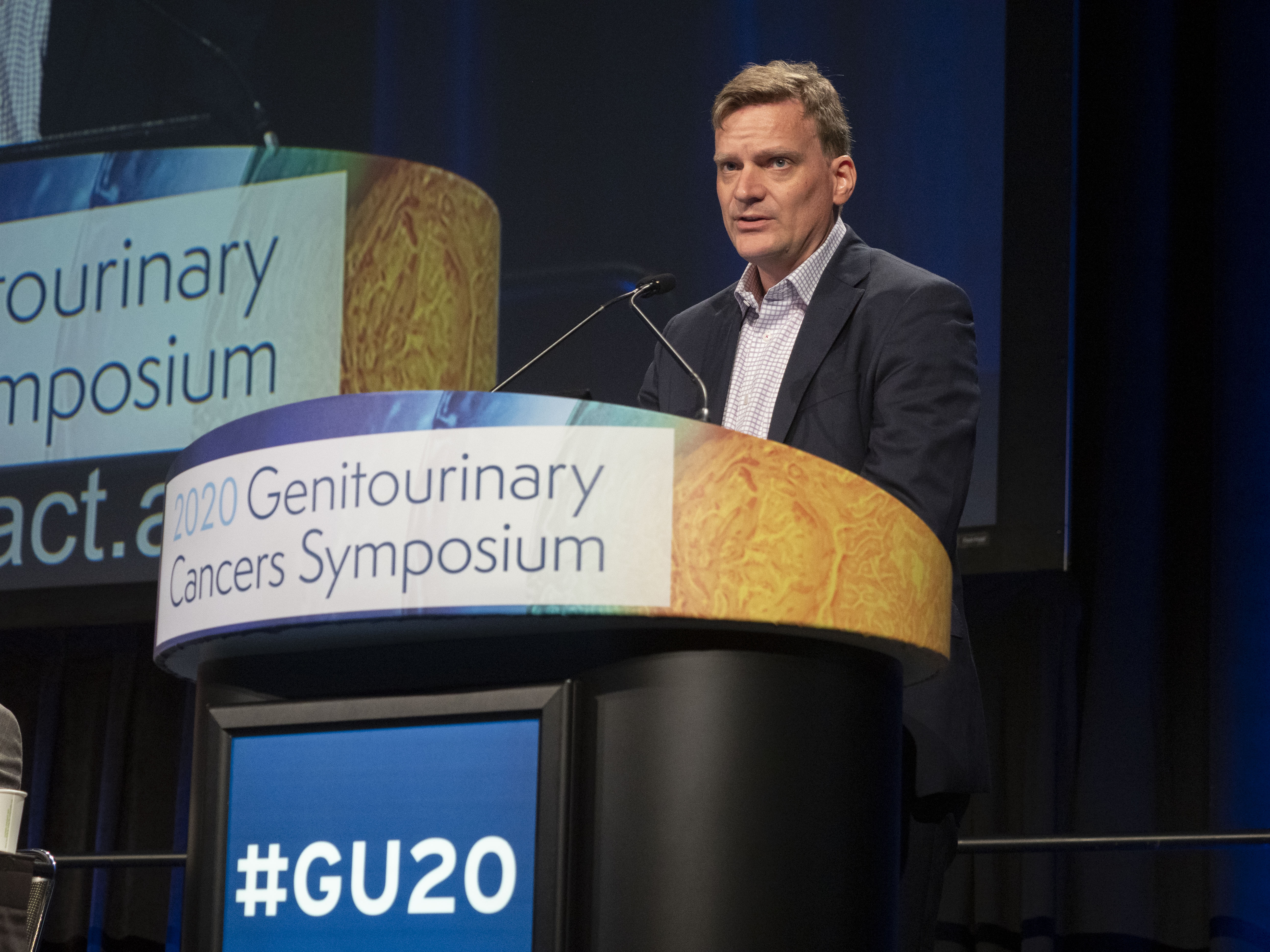 San Francisco, CA - 2020 Genitourinary Cancers Symposium – Hans J. Hammers, MD, PhD, presents Abstract 614 during Oral Abstract Session C: Renal Cell Cancer at the 2020 Genitourinary Cancers Symposium here today, Saturday February 15, 2020. Photo by © ASCO/Todd Buchanan 2020