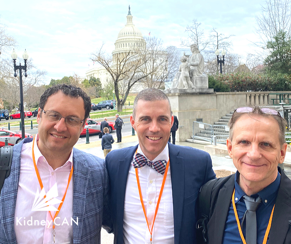 KidneyCAN delegates advocate for research funding for kidney cancer in Washington, DC.